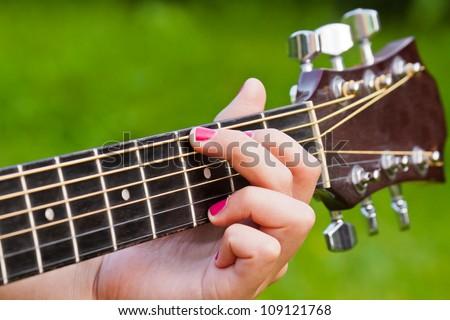 Finger Position G Major Guitar Chord Stock Photo Royalty Free