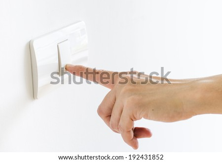 Finger press on light button