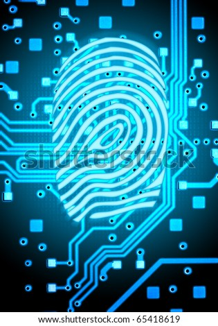 Finger-print abstract background - stock photo