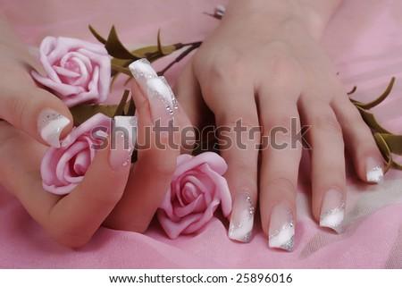 fingernails - stock photo