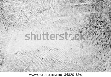 fingerprint isolated on white background - stock photo