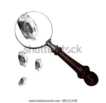 Fingerprints - stock photo
