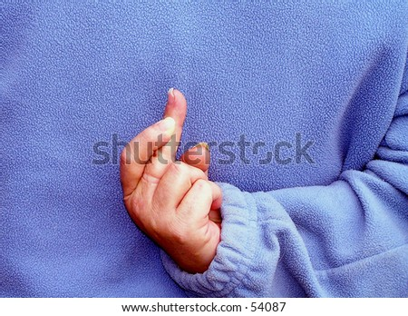 Fingers Crossed - stock photo