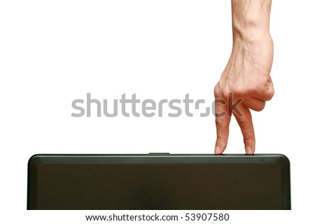 fingers going - stock photo