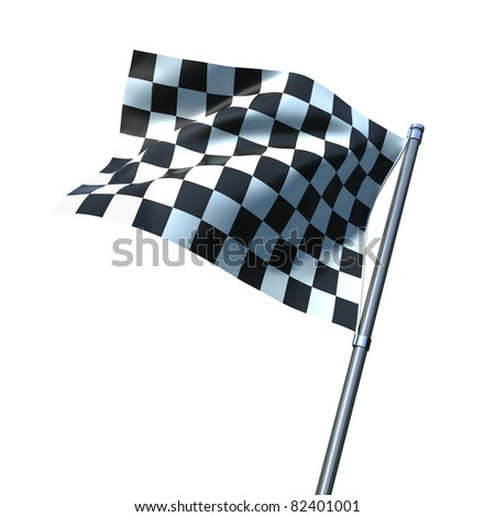 Finish flag isolated on white - stock photo