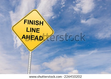 Finish Line Ahead - stock photo