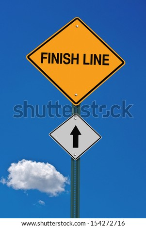 finish line ahead motivational post
