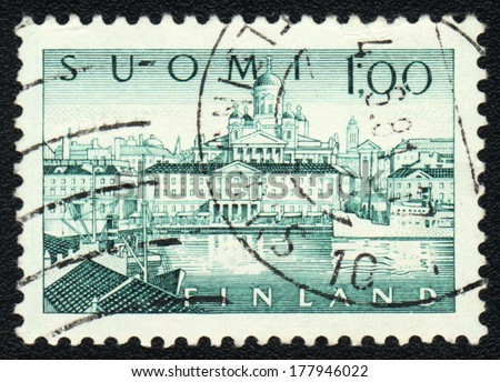 FINLAND - CIRCA 1981: A stamp printed in FINLAND shows Cathedral in Finland, circa 1981