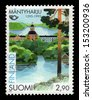 FINLAND - CIRCA 1995: a stamp printed in the Finland shows Town of Mantyharju, 400th Anniversary, circa 1995 - stock photo