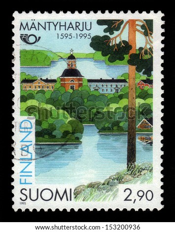 FINLAND - CIRCA 1995: a stamp printed in the Finland shows Town of Mantyharju, 400th Anniversary, circa 1995