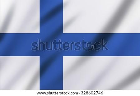 Finland flag background - stock photo