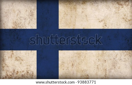 Finland flag background - stock photo
