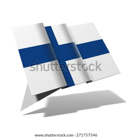 Finland flag 3D banner - stock photo