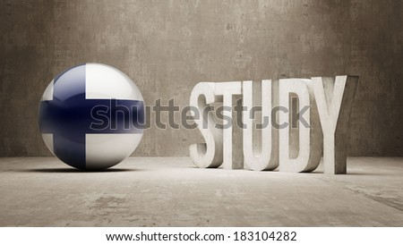 Finland High Resolution Study Concept - stock photo