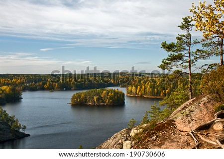 Finland landscape. Finland is a country of lakes. - stock photo