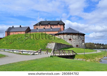 Finland. Old fortress in the town of Hameenlinna