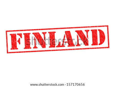 FINLAND Rubber Stamp over a white background. - stock photo