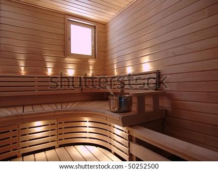 Finnish sauna - stock photo