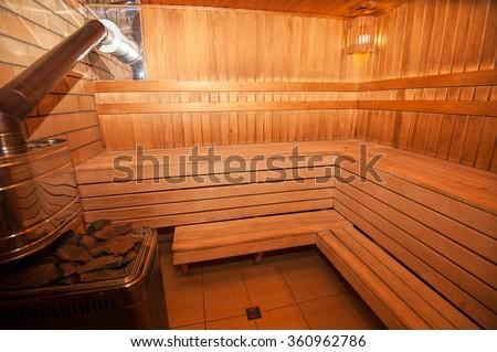 Finnish sauna photo - stock photo