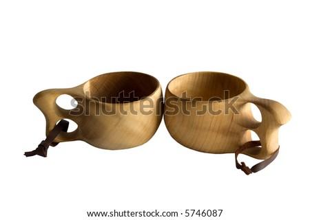 Finnish Tea Cups - Pair - stock photo