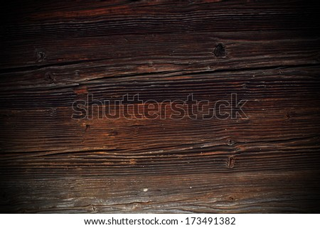 fir beam texture weathered in more than two hundred years - stock photo