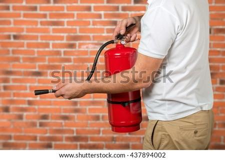 Fire. - stock photo