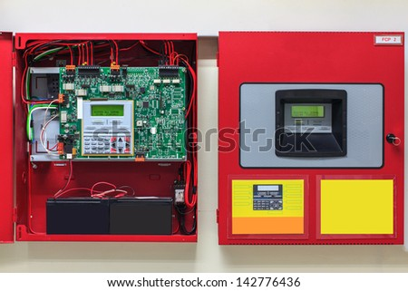 Fire Alarm controller, Fire notifier, Anti fire. - stock photo