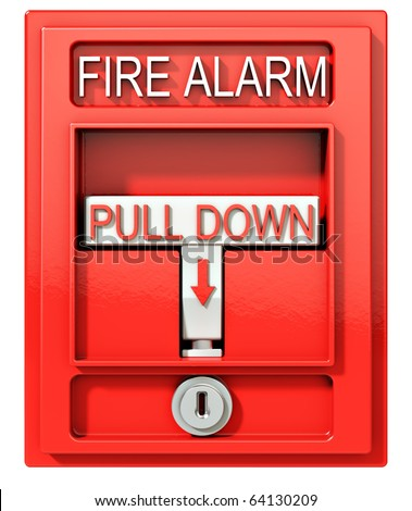 Fire alarm, 3d illustration - stock photo