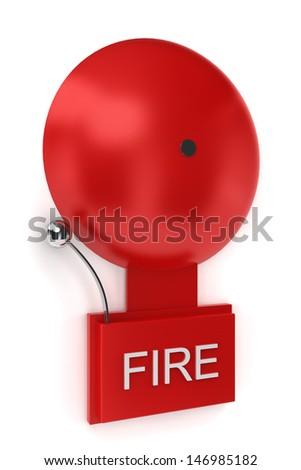 Fire alarm. 3d illustration on white background - stock photo