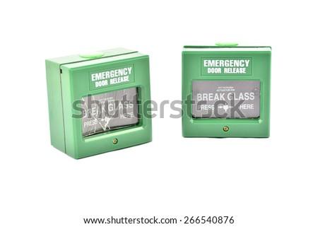 fire alarm panel - stock photo