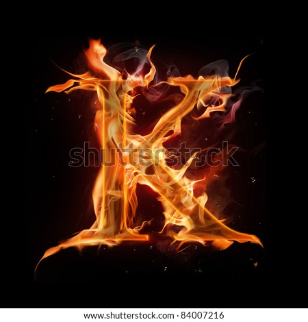 Alphabet letter k Stock Photos  Illustrations  and Vector ArtLetter K Fire
