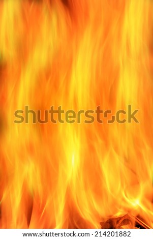 Fire and Flame Background - Colorful Abstract Art - Hot Heat
