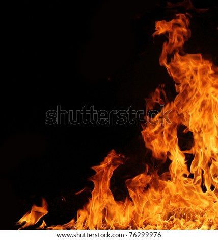Fire background - stock photo