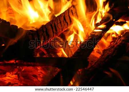 fire background with great flames