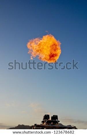 Fire ball - stock photo