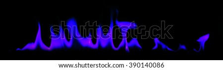 Fire blue light abstract background - stock photo