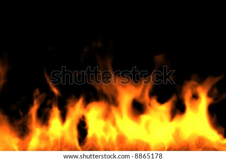 Fire Bottom. Render - stock photo