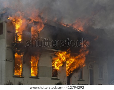 Fire Brigade Training - stock photo