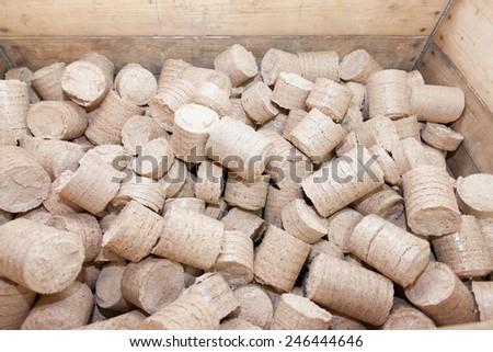 fire briquettes - stock photo