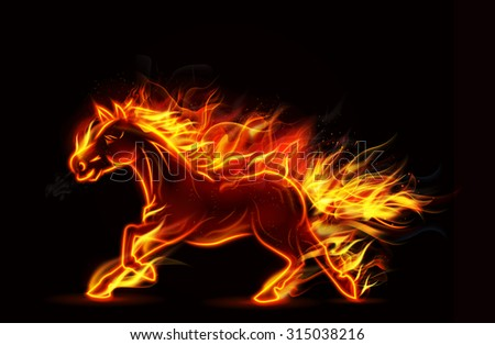 Blue Fire Horse Wallpaper Galloping Stock Photos Illustrations And Vector Art