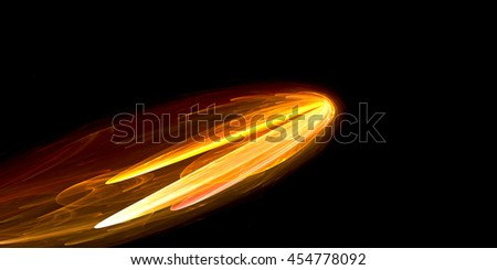 Fire comet - stock photo