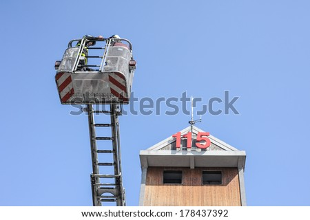 fire department - stock photo