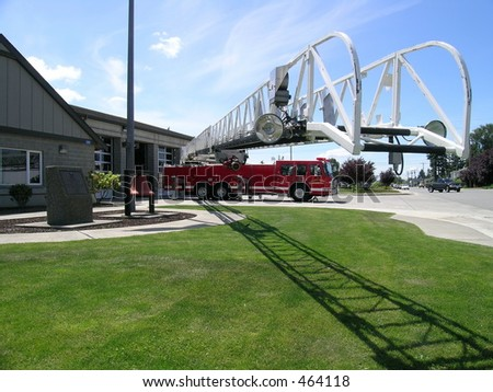 Fire Engine & Ladder - stock photo