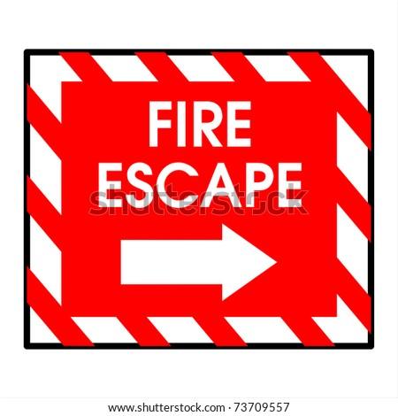 fire escape - stock photo