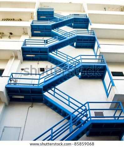 Fire escape. - stock photo