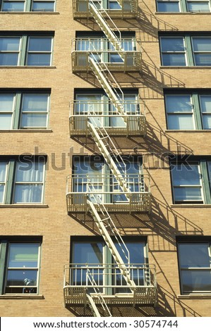 fire escape in San Francisco - stock photo