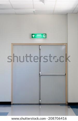 fire exit door  - stock photo