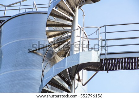 fire exit staircase on a silo building