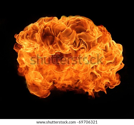 Fire explosion - stock photo