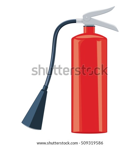 Fire extinguisher illustration isolated on a white background